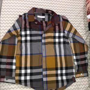 Burberry Button Up Long Sleeve Shirt